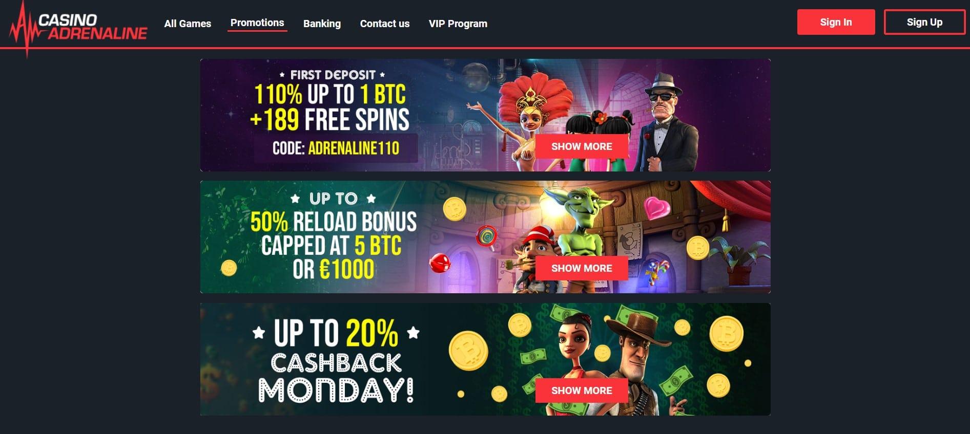 Adrenaline Casino Review
